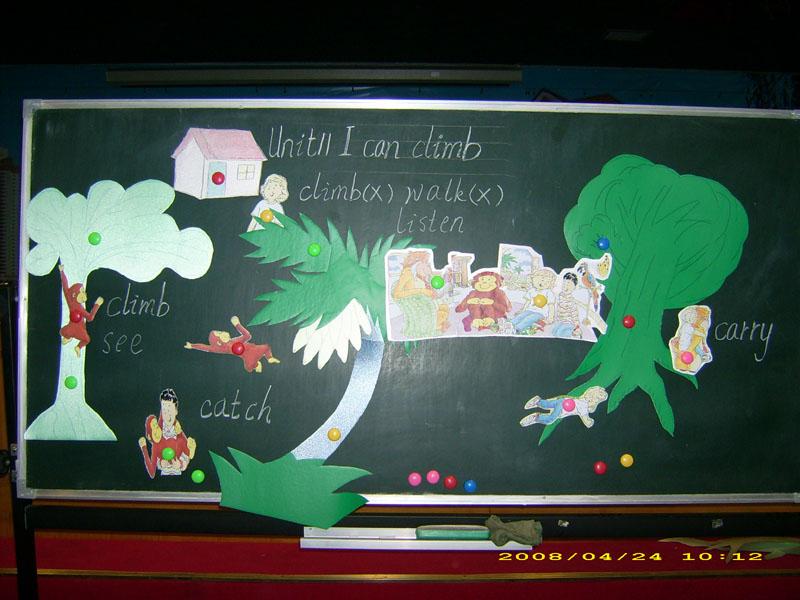 《小学英语板书设计的实效性例析》一文中涉及的板书